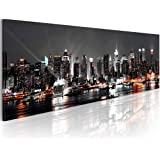 Bilder ! 135x45 cm ! XXL Format ! Fertig Aufgespannt & Top Leinwand + 1 Teilig + New York + Wandbilder 030211-52 + 135x45 cm +++ B&D XXL + Riesen Bilder Kunstruck Wandbilder +++