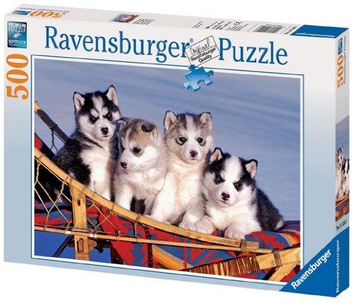 Cheap Fun Ravensburger – Baby Huskies – 500pc Jigsaw Puzzle [Toy] (B002ZCXNKU)