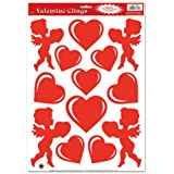 Heart & Cupid Clings Party Accessory (1 count) (13/Sh)