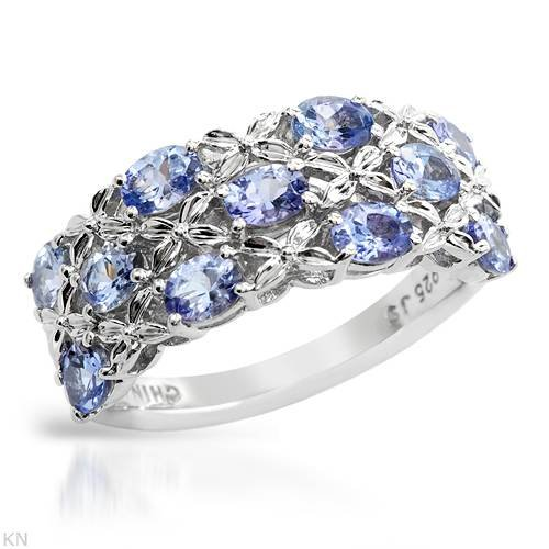 Sterling Silver 1 CTW Tanzanite Ladies Ring. Ring Size 6. Total Item weight 4.2 g.