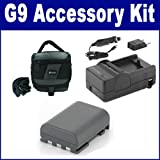 Canon Powershot G9 Digital Camera Accessory Kit includes: SDM-118 Charger, SDNB2LH Battery, SDC-27 Case