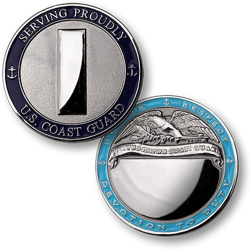 Coast Guard Lieutenant Junior Grade Engravable Challenge Coin