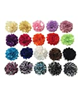 """20pc 2"""" Satin Mesh Hair Flowers Fabric Flowers Embellishments [Office Product]"""