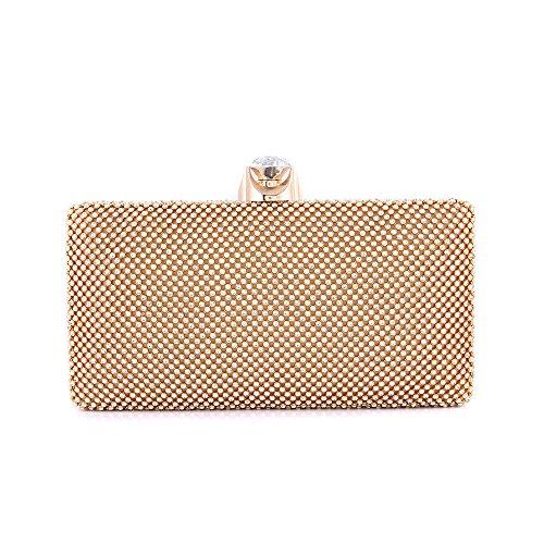 S-Lady-Design-Diamant-Handtasche-Diamant-Clutch-Bag-Diamant-Abendtasche-UmhaengetascheGold