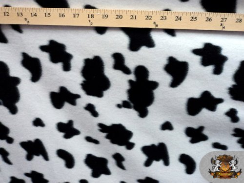 Fleece Fabric Printed Animal Print *Cow Print* Fabric By The Yard front-47886