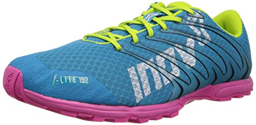 Inov-8 Women's F-Lite 192 Running Shoe,Aqua/Pink/Lime,6.5 E US
