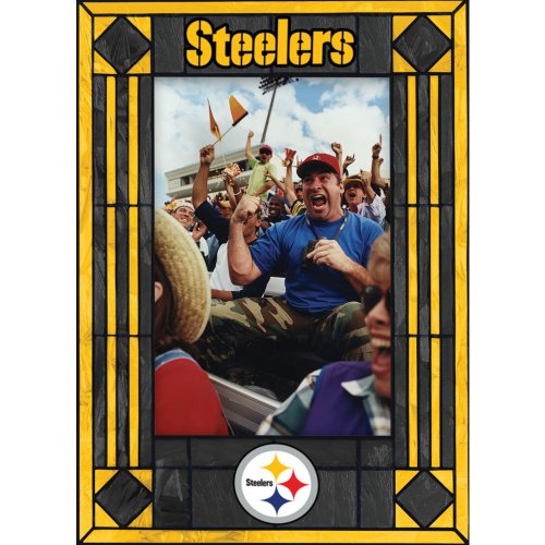 Pittsburgh Steelers Art Glass Frame (The Memory Company)