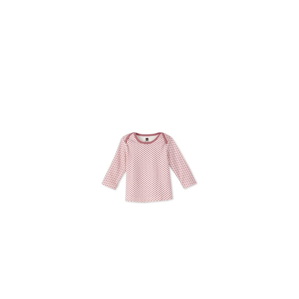 Tea Collection Girls Akita Print Tee, Rose Petal, 0 3M