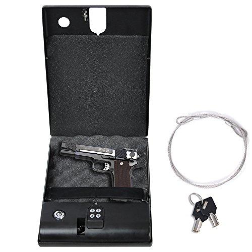 galleon electronic digital gun safe security box keypad lock cable cash pis. Black Bedroom Furniture Sets. Home Design Ideas