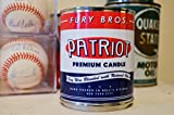 Fury Bros. Patriot Scented Candle for Men, Scented with Fire Smoke and Fresh Cut Tobacco (1 Pint Oil Can Soy Candle)