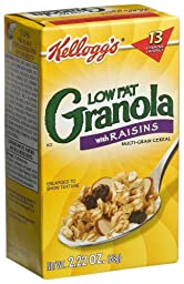 Kellogg\'s Granola with Raisins, Low Fat, 2.22-Ounce Single Serve Boxes (Pack of 70)