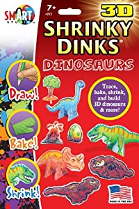 3D Dinosaur Shrinky Dinks