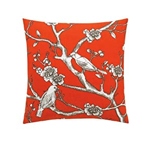 Dwell Studio DwellStudio Vintage Blossom Persimmon Pillow, 20 by 20-Inch at Sears.com