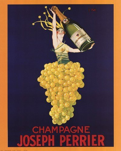 Champagne Joseph Perrier Poster 16 x 20in (Vintage Wine Poster compare prices)