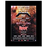 SONISPHERE FESTIVAL - 2011 - Metallica Slayer Slipknot Biffy Clyro Matted Mini Poster - 28.5x21cm