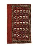 L'EDEN DEL TAPPETO Alfombra Bukara.Afgan Rojo 114 x 70 cm
