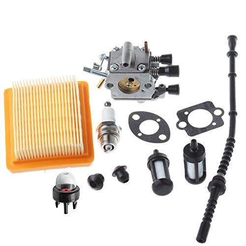 HIPA Carburetor with Gasket Air Filter Primer Bulb Repower Kit for STIHL FS120 FS200 FS250 FS300 FS350 String Trimmer