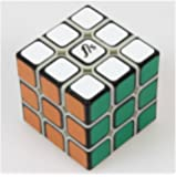 New 5.46cm Fangshi (Funs) Shuang Ren 3x3 Speed Cube Puzzle 3x3x3, Black Based Sticker on Primary Body,