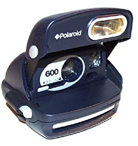 Blue Polaroid 600 Instant Film Camera With Built-in Flash