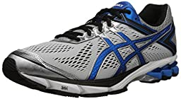 ASICS Men\'s GT 1000 4 Running Shoe, Silver/Electric Blue/Black, 12 M US