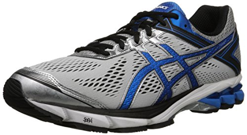 ASICS Men's GT 1000 4 Running Shoe, Silver/Electric Blue/Black, 10.5 2E US (Asics Mens Running Shoes compare prices)