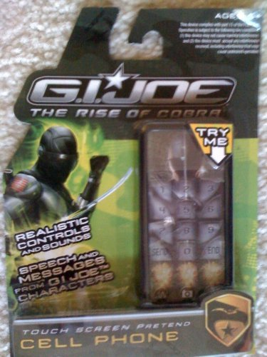 GI Joe The Rise of the Cobra Touch Screen Pretend Cell Phone - Black