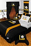 PITTSBURGH STEELERS LR 6PC TWIN BEDDING SET, Comforter, 3pc Sheet Set, Pillow Sham, Bedskirt, New NFL Football Boys at Amazon.com