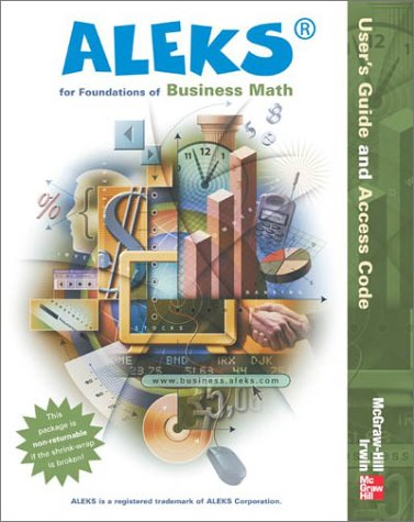 Aleks User's Guide and Access Code for Foundations of Business Math