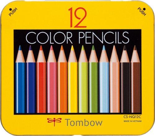 トンボ鉛筆 ミニ色鉛筆 NQ 12色 BCA-151 削り器付パック