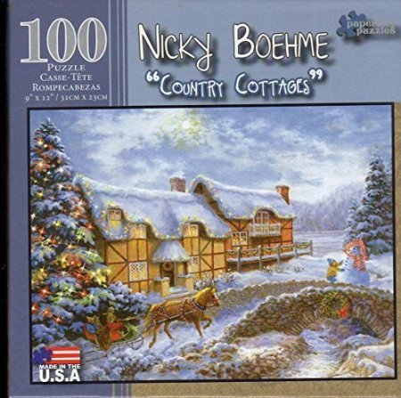 Country Cottages 100 Piece Puzzle - Nicky Boehme