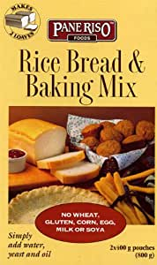 PaneRiso Foods Rice Bread & Baking Mix, 28.22- Ounce Boxes (Pack of 6)