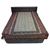 """60X90"""" Bagru Print Block Print Double Bed Spread- Double Bed Cover- Double Bed Sheet - Online Shopping For Home... - B00G8V8HIW"""