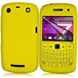 Supergets® Yellow Keypad Silicone Case For Blackberry Curve 9360, Screen Protector And Polishing Cloth
