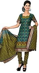 Vivacity Women's Cotton Unstitched Dress Material (GB-12_Multi_Free Size)