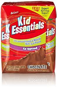 Boost Kid Essentials Drink, Chocolate, (4 Count, 8.25 Fl Oz Each)