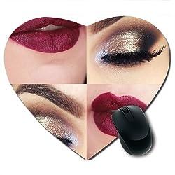 Awwsme Lips And Eye Makeup Heart Mousepad