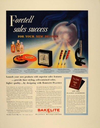 1939 Ad Bakelite Plastics Containers Microscope Knife - Original Print Ad