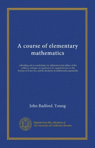 A Course of Elementary Mathematics