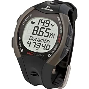 Sigma RC1209 Heart Rate Monitor - Grey, One Size