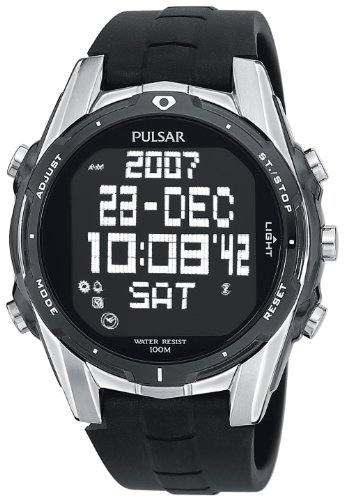 Men's Pulsar® Digital World Time Chronograph Watch