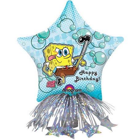 "14"" Spongebob Birthday Star Centerpiece Foil Balloon Centerpiece (1 per package) - 1"