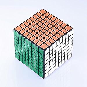 JohnsDollarStore 8X8X8 Black Puzzle Magic Cube 6 Color
