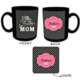 Unique Gifts for Mother, Giftsmate Love You Mom Retro Coffee Mug Gift set for Mother with Coaster,Gifts for Mother, Birthday Gifts for Mom