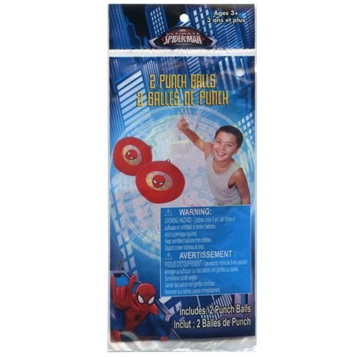 WeGlow International Spiderman Punch Inflatable Balls (Set of 3) (2-Pack) - 1