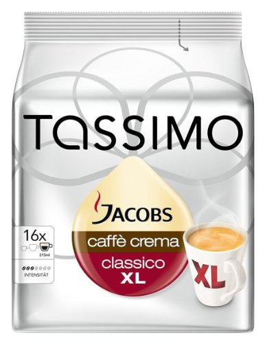 Tassimo Jacobs Caffe Crema Classico X-Large (Pack of 5)
