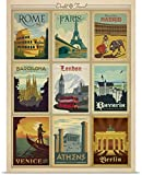 Anderson Design Group Poster Print entitled World Travel Collection I - Retro Travel Posters