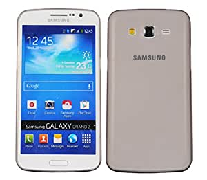 Galaxy Grand 2 Back cover, PP [0.35mm] Ultra-Thin / Slim [ Perfect Fit ] Thinnest Hard Protect Case Back Cover Bumper [ Semi-transparent ] Lightweight for Samsung Galaxy Gr2 (Grey)