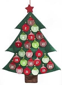 Brauns Heitmann 82016 Adventskalender Weihnachtsbaum mit Glöckchen zum Befüllen, 97 x 75 cm
