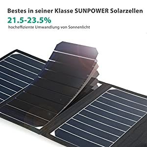 RAVPower® 15W Solar Ladegerät Charger für iPhone, iPad, GPS, Smartphone, Tablet PC, eBook Reader, Bluetooth Headset by RAVPower