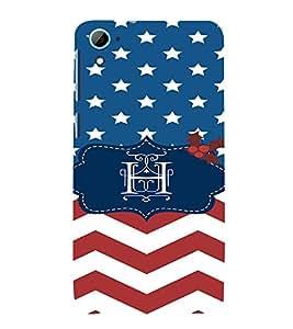 EPICCASE Letter H Mobile Back Case Cover For HTC Desire 826 (Designer Case)